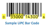 sample upc bar code